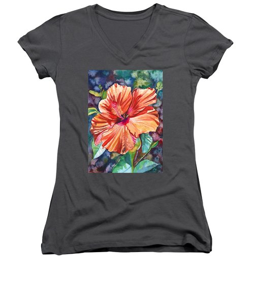 Tropical Hibiscus 5 Women's V-Neck T-Shirt