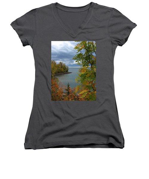 Tropical Mountain Ash Women's V-Neck T-Shirt