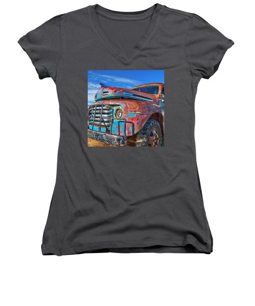 Heavy Duty Women's V-Neck