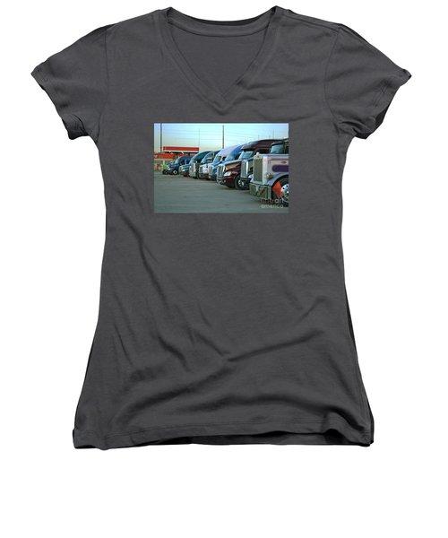 Truck Stop Women's V-Neck T-Shirt