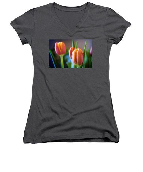 Tulips Artistry Women's V-Neck