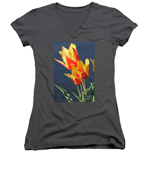 Tulips Women's V-Neck