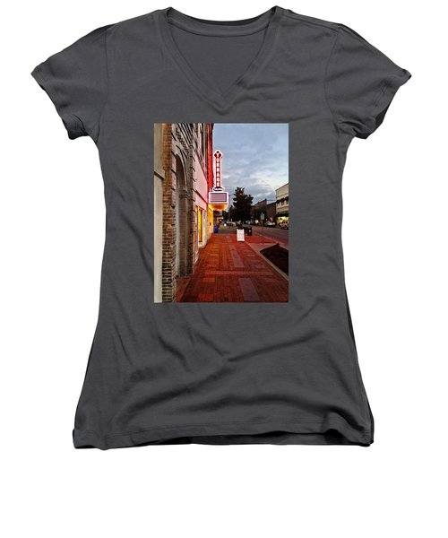 Turnage Theater Grand Opening Women's V-Neck T-Shirt