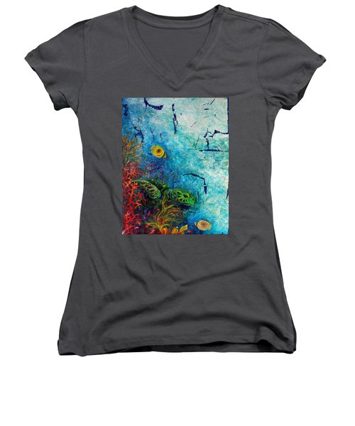 Turtle Wall 1 Women's V-Neck