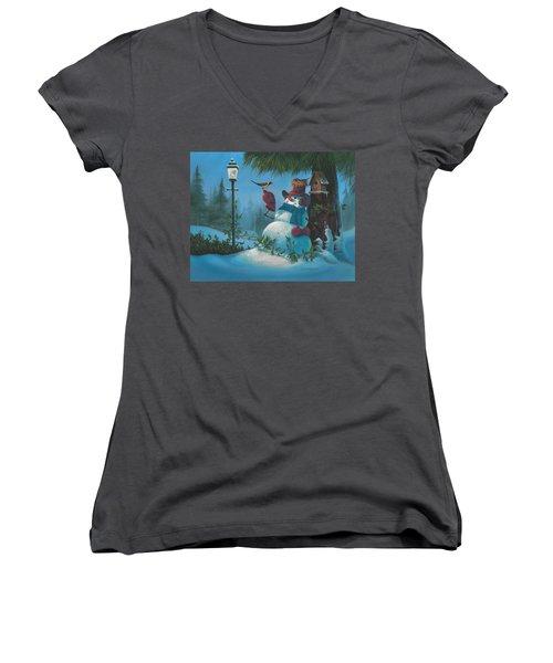 Tweet Dreams Women's V-Neck T-Shirt (Junior Cut)
