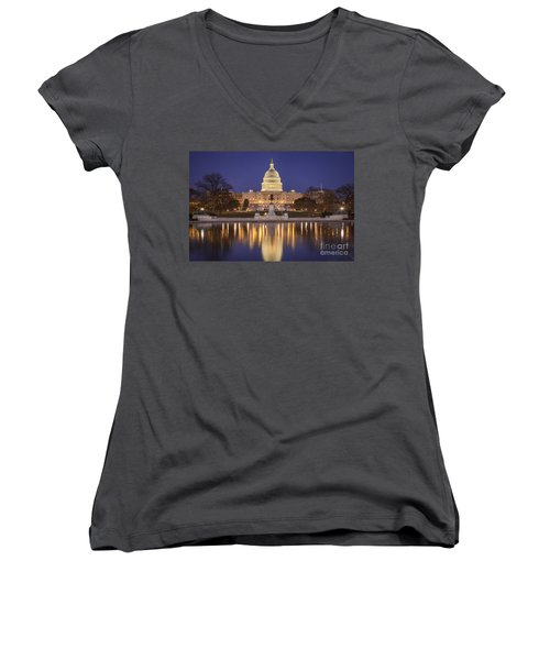 Twilight At Us Capitol Women's V-Neck