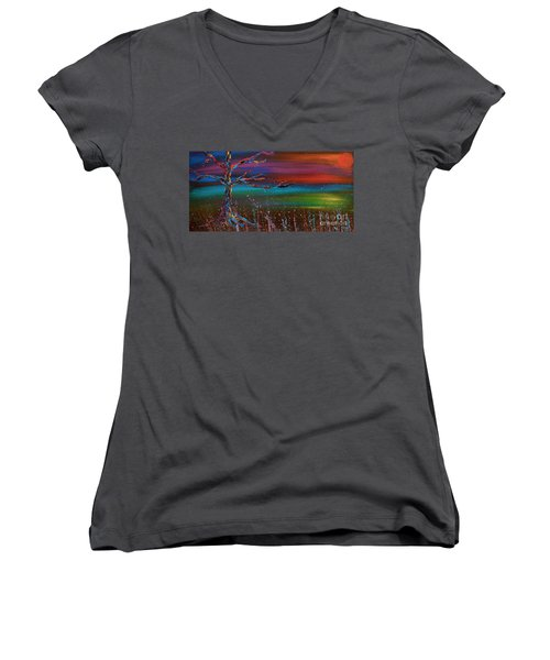 Twilight Sun Women's V-Neck