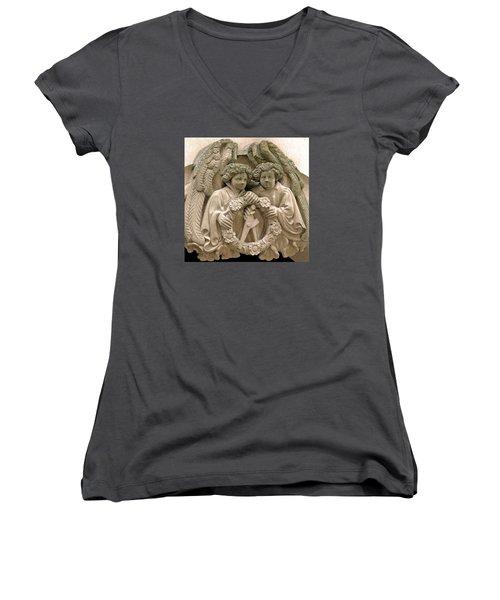 Twin Angels Women's V-Neck T-Shirt