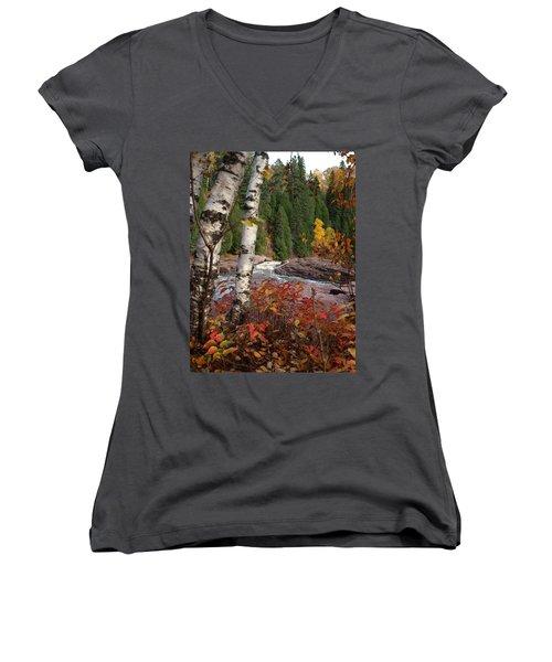Twin Aspens Women's V-Neck T-Shirt
