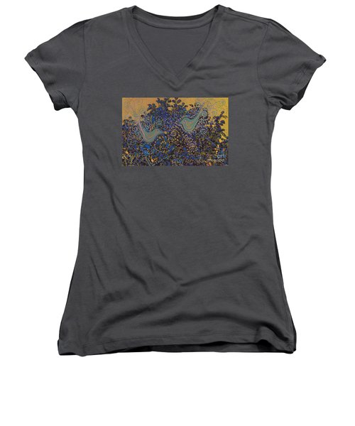 Two Turtle Doves In A Pear Tree Women's V-Neck (Athletic Fit)