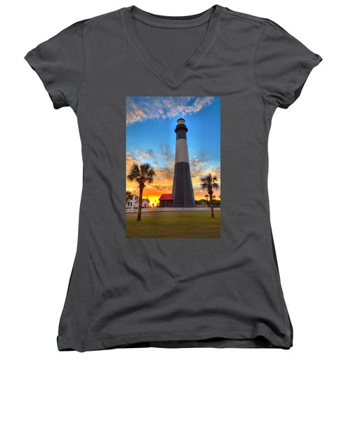 Tybee Island Sunrise Women's V-Neck T-Shirt