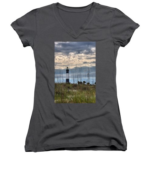 Tybee Light Women's V-Neck (Athletic Fit)