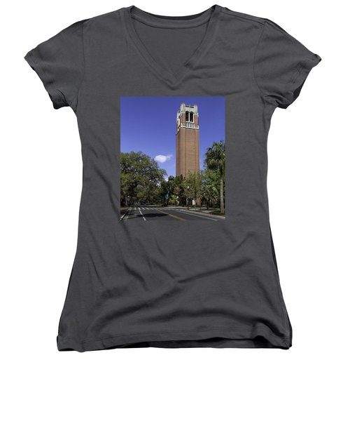 Uf Century Tower And Newell Drive Women's V-Neck T-Shirt