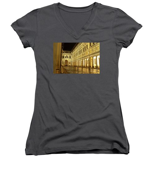 Uffizi Gallery Florence Italy Women's V-Neck (Athletic Fit)