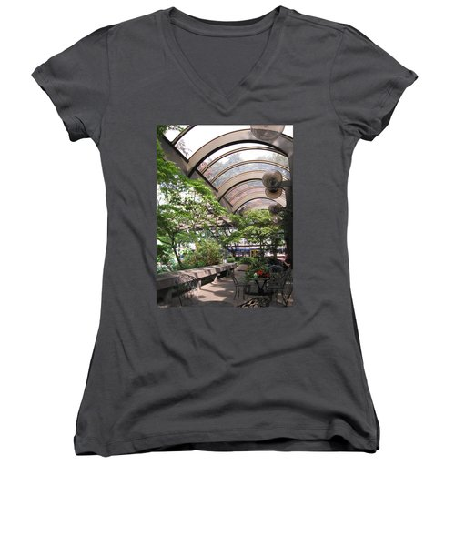 Under The Dome Women's V-Neck T-Shirt (Junior Cut) by David Trotter