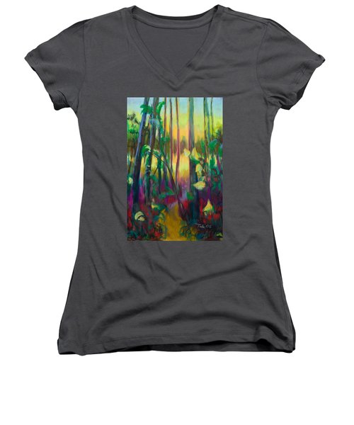 Unexpected Path - Through The Woods Women's V-Neck