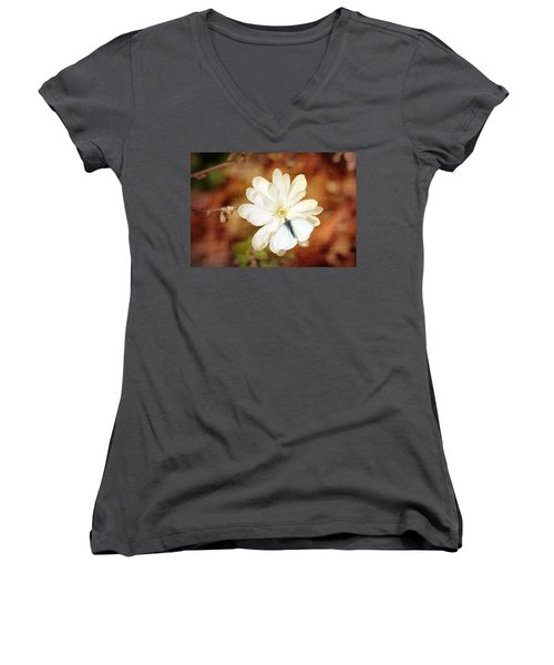 Women's V-Neck T-Shirt (Junior Cut) featuring the photograph Unity by Trina  Ansel