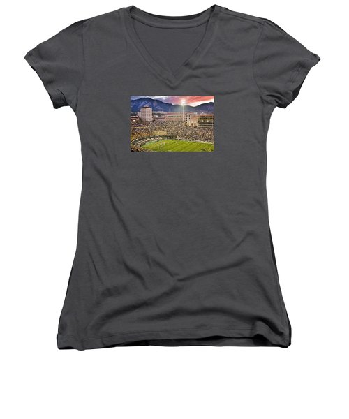 University Of Colorado Boulder Go Buffs Women's V-Neck (Athletic Fit)