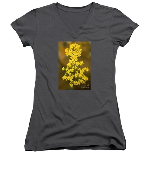 Unknown Flower Women's V-Neck (Athletic Fit)