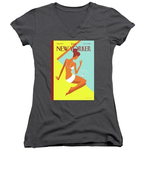 New Yorker August 9th, 2010 Women's V-Neck