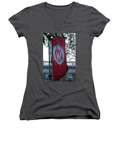 Uw Flag Women's V-Neck T-Shirt