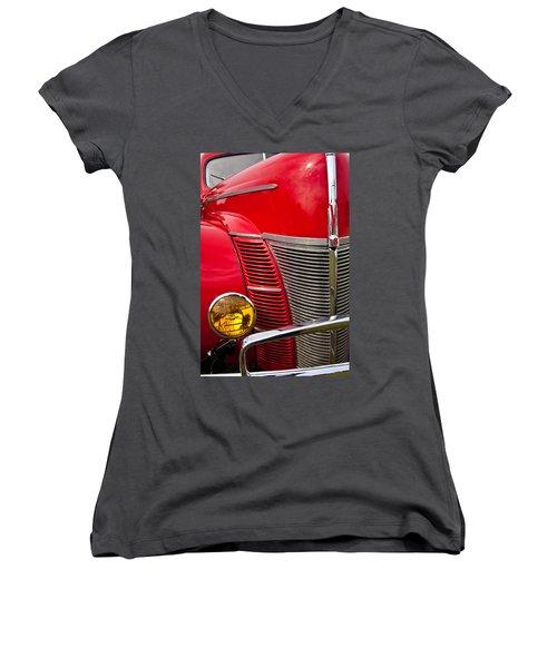V8 - Another View Women's V-Neck T-Shirt (Junior Cut) by Mark Alder