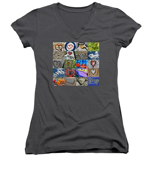 Valentine's Day - Hearts For Sale Women's V-Neck (Athletic Fit)