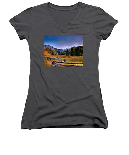 Valley Of Mt Sneffels Women's V-Neck (Athletic Fit)