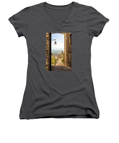 Valley Outside Assisi Women's V-Neck T-Shirt