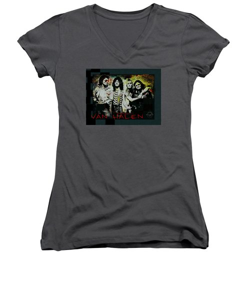 Van Halen - Ain't Talkin' 'bout Love Women's V-Neck T-Shirt (Junior Cut) by Absinthe Art By Michelle LeAnn Scott