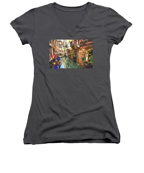 Venice Canal Serenity Women's V-Neck T-Shirt