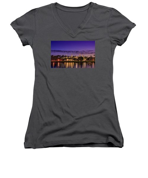 Venus Over The Minarets Women's V-Neck T-Shirt