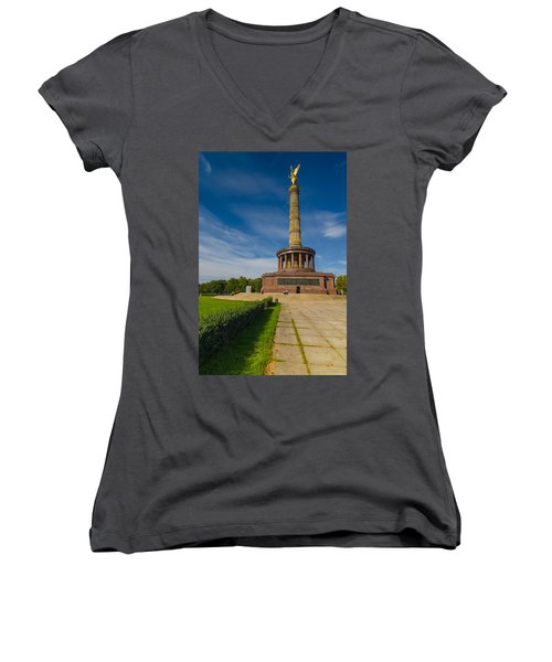 Victory Column Women's V-Neck T-Shirt