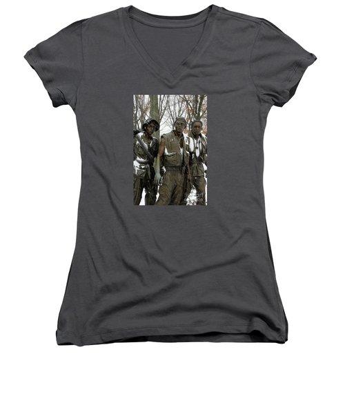 Vietnam Veterans Memorial Women's V-Neck T-Shirt