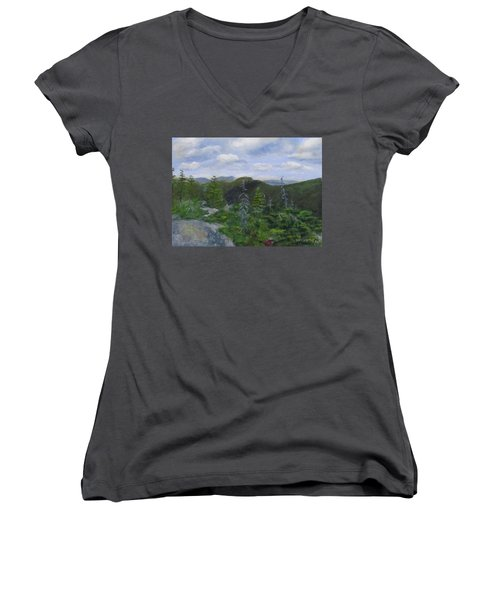 View From Noon Peak Women's V-Neck (Athletic Fit)