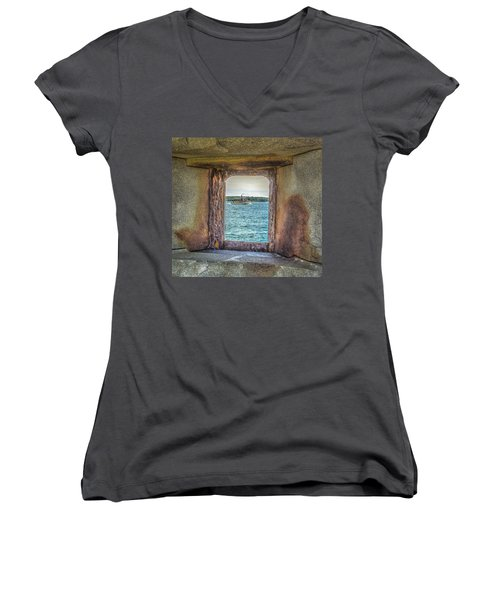 View From The Fort Women's V-Neck T-Shirt