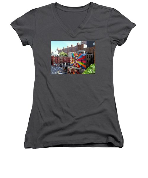 View From The Highline Women's V-Neck T-Shirt