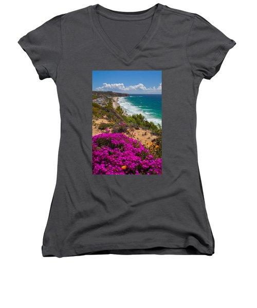 View Of Strand Beach And Dana Point Headland Women's V-Neck