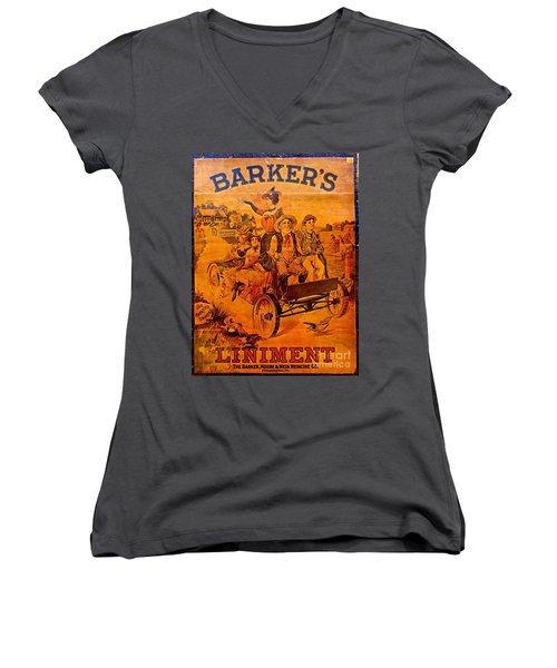 Vintage Ad Barker's Liniment Women's V-Neck T-Shirt