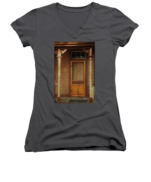 Vintage Doorway Women's V-Neck T-Shirt