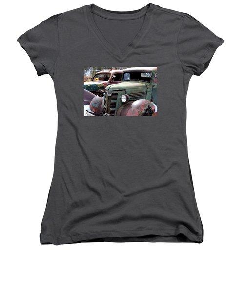 Vintage Women's V-Neck T-Shirt (Junior Cut) by Fiona Kennard