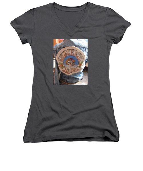 Vintage - Grateful Dead - Fashion Women's V-Neck T-Shirt (Junior Cut) by Susan Carella