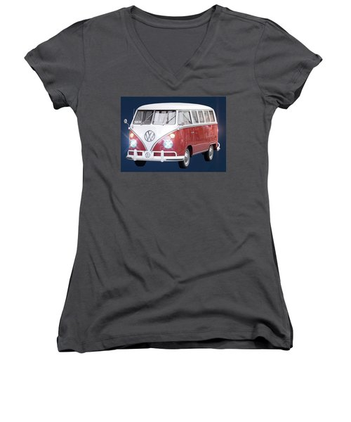 Vw Bus Women's V-Neck