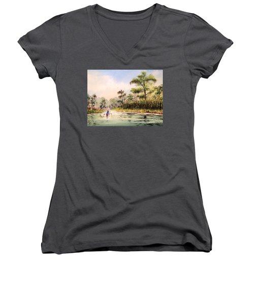 Wacissa River  Women's V-Neck T-Shirt