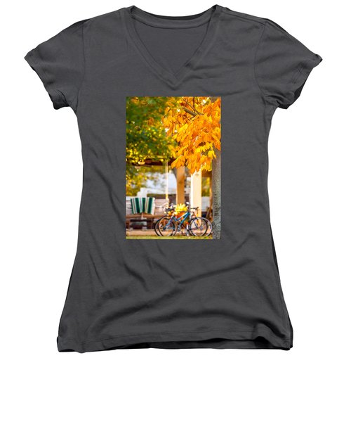 Waiting For A Ride Women's V-Neck