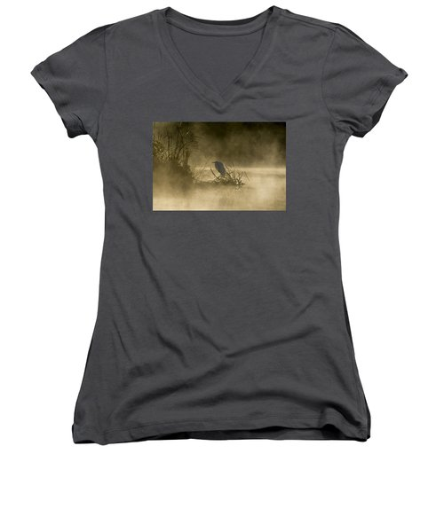 Women's V-Neck T-Shirt featuring the photograph Waiting For The Sun by Steven Sparks