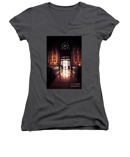 Waiting In Faith Women's V-Neck