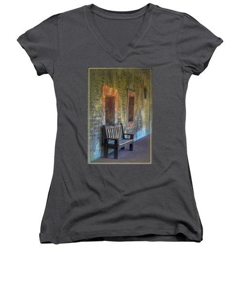Waiting Women's V-Neck T-Shirt (Junior Cut) by Joan Carroll