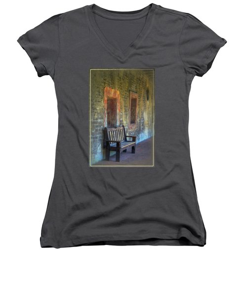 Waiting Women's V-Neck T-Shirt (Junior Cut)