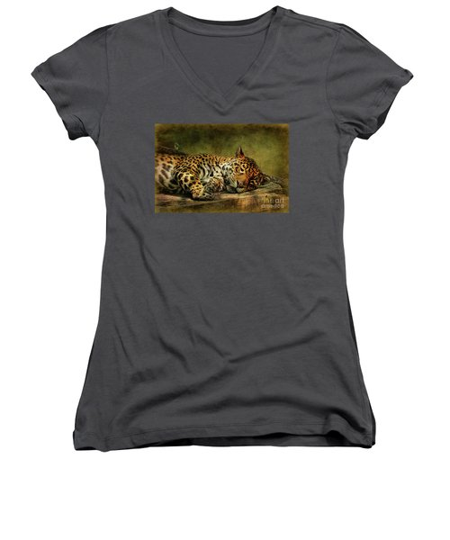 Wake Up Sleepyhead Women's V-Neck T-Shirt